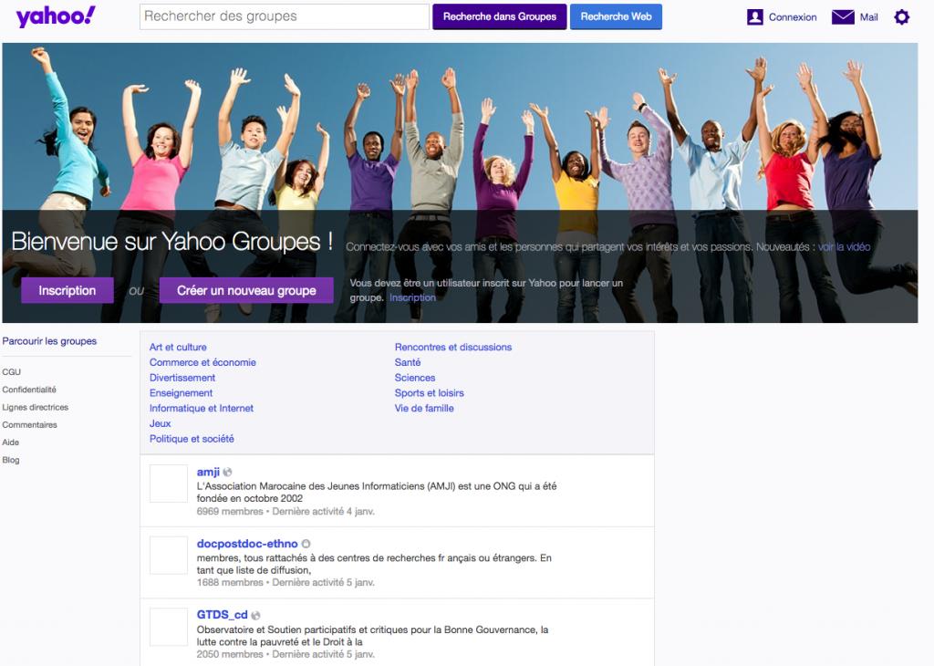 Yahoo Groupes