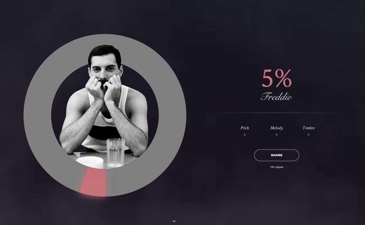 Google lance un outil pour chanter comme Freddie Mercury