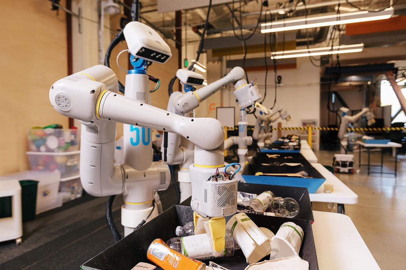 Les robots trieurs de déchets d'Alphabet