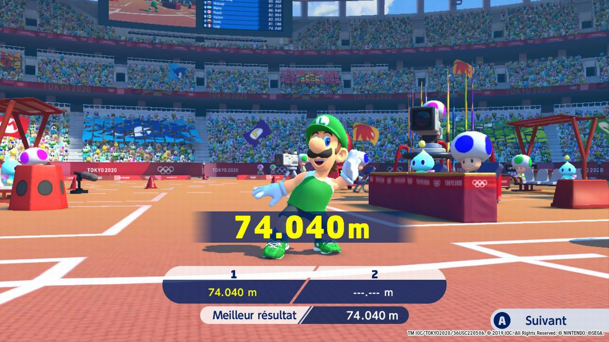 Test Mario Sonic JO 2020 Nintendo Switch