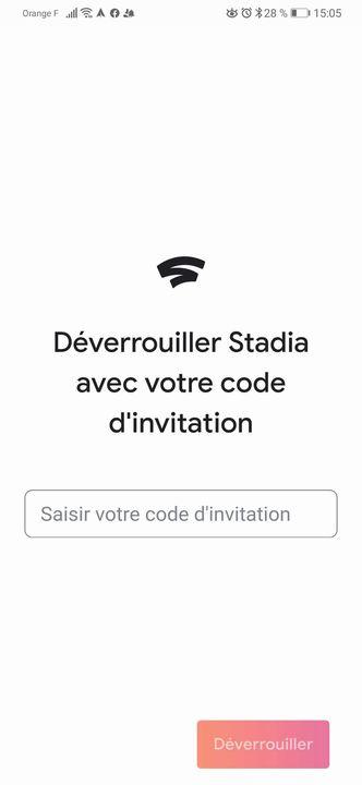 Code invitation google Stadia