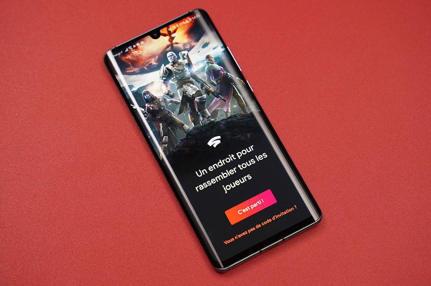 Google Stadia sur un smartphone Android