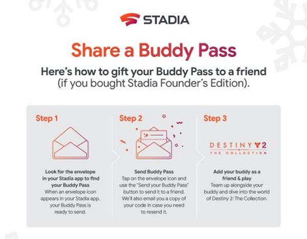 Le Buddy Pass Google Stadia est disponible