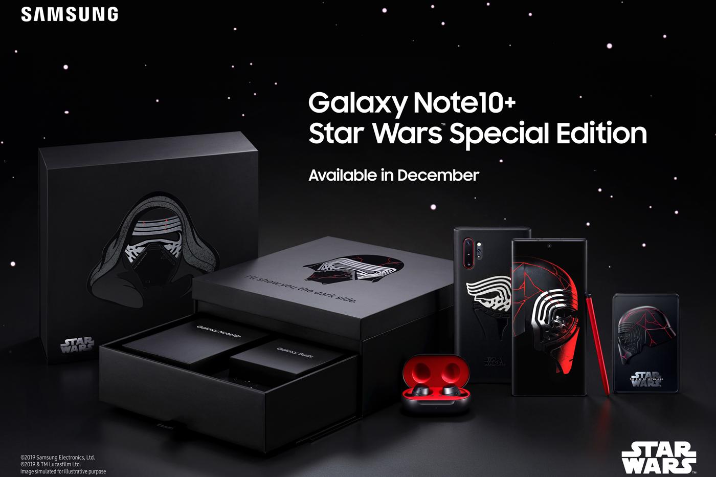 Le Samsung Galaxy Note 10+ en mode Star Wars