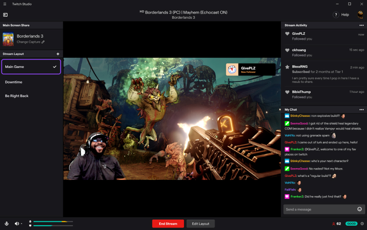 L'application gratuite Twitch Studio