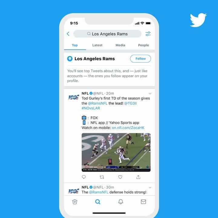 Twitter va permettre de s'abonner à des sujets