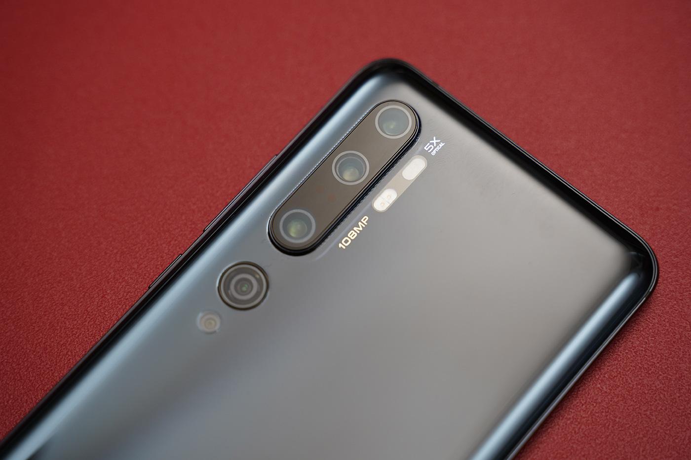 Xiaomi Mi Note 10 Capteurs