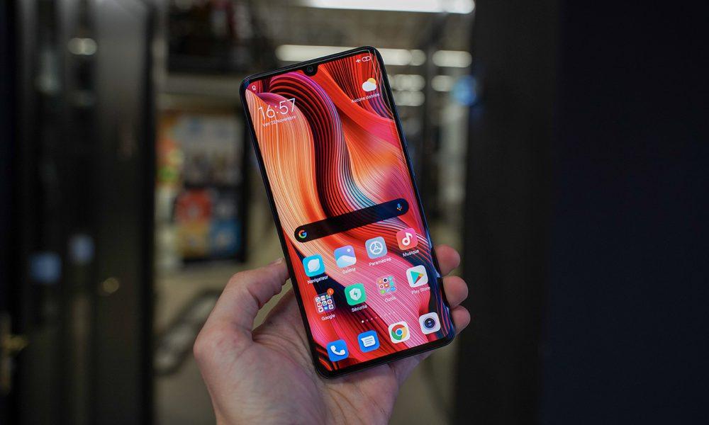 L'écran du Xiaomi Mi Note 10