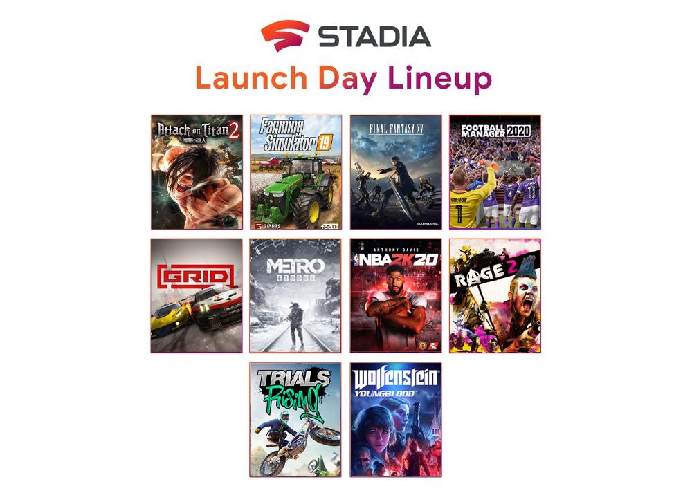 Google Stadia 10 nouveaux jeux line-up
