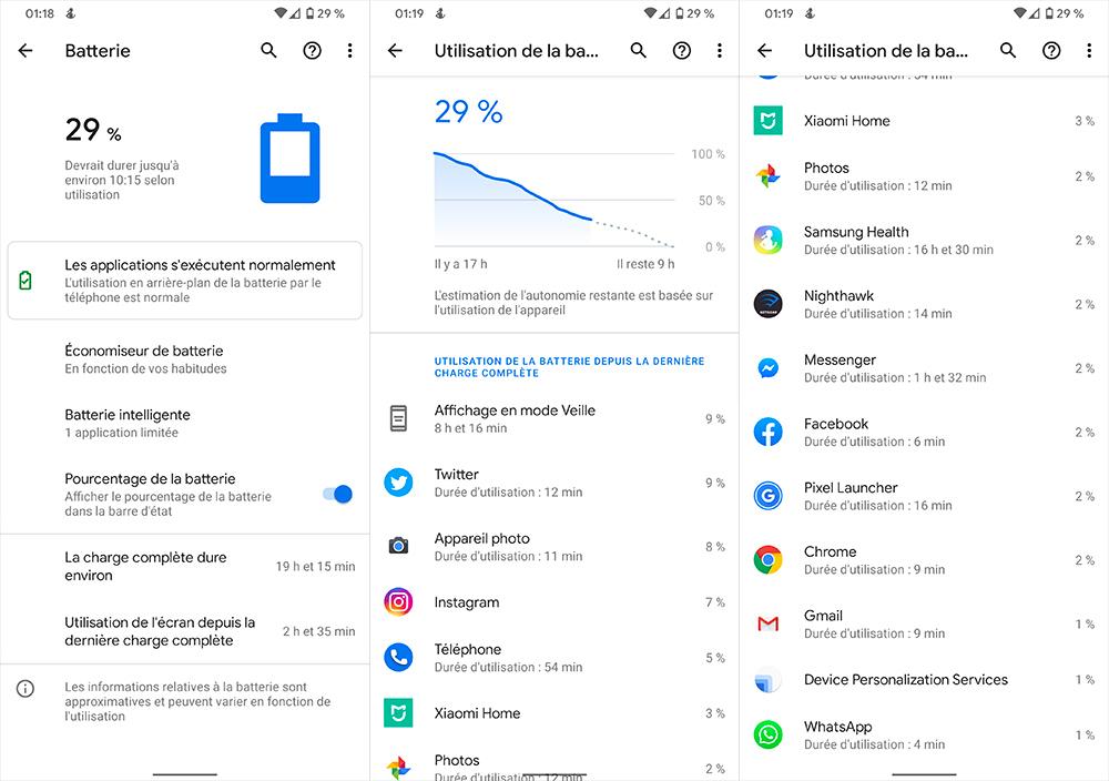 Autonomie du Google Pixel 4 XL