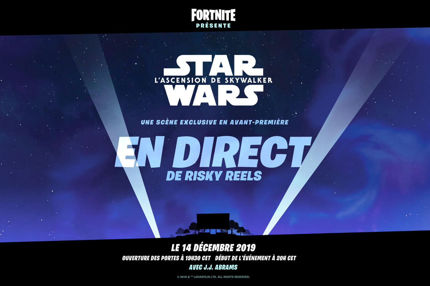 Un extrait de Star Wars dans Fortnite