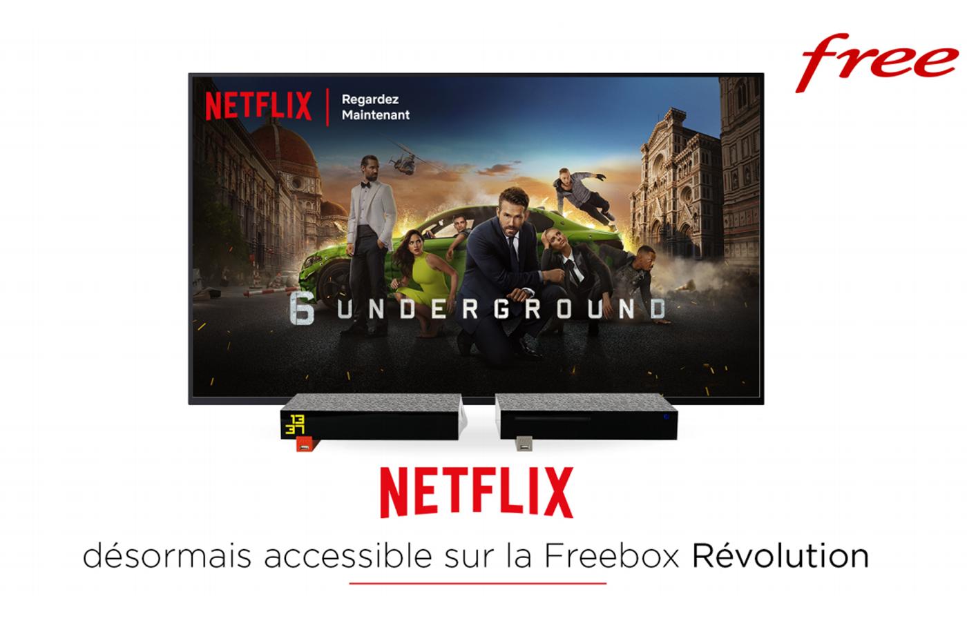Netflix enfin sur la Freebox Revolution