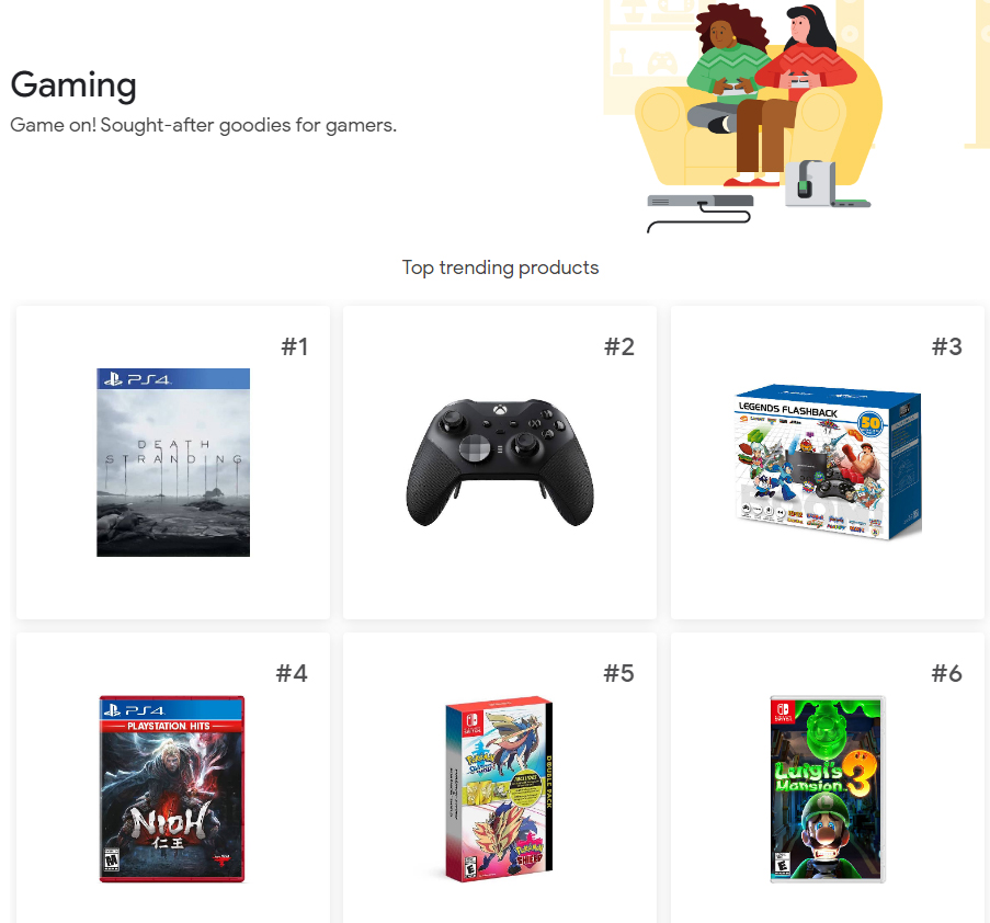 Google Top 100 Gaming 2019