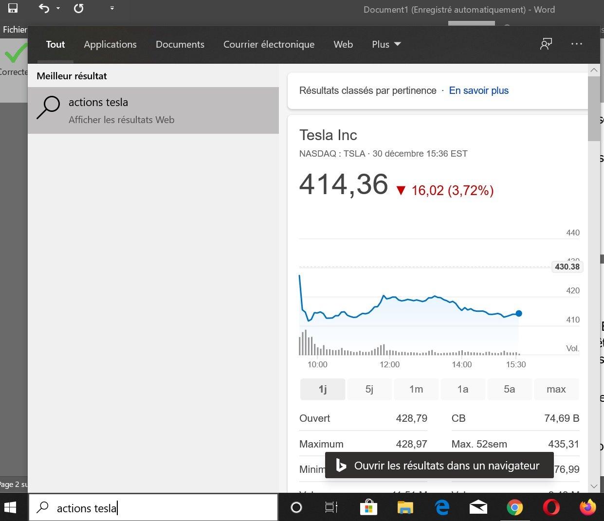 Le search bar de Windows 10