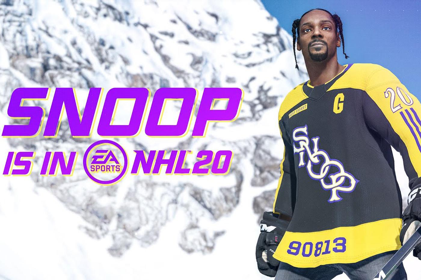 Le jeu NHL 2020 permet désormais de jouer avec… Snoop Dogg