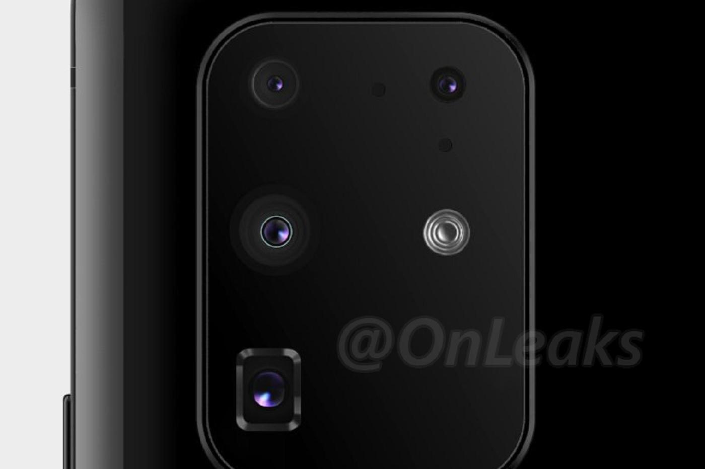 Un rendu présumé du module caméra du Samsung Galaxu S11+