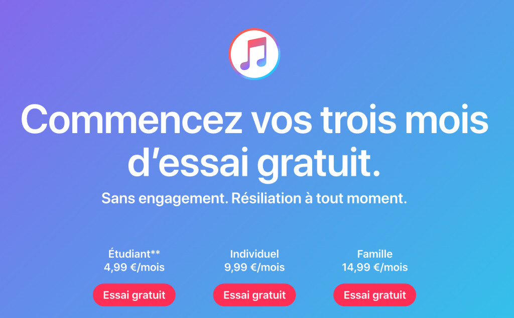 Apple Music offres