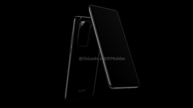 Huawei P40 Pro rendus verticaux