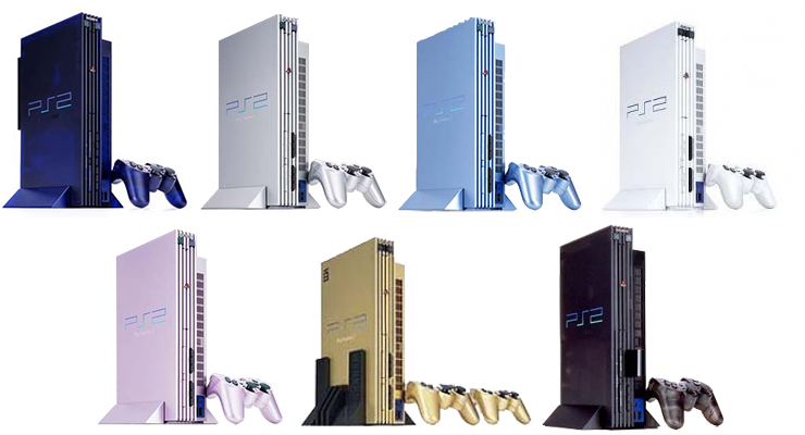 PlayStation 2 couleurs