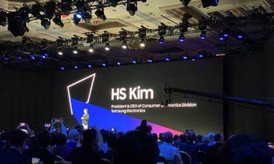 HS Kim sur scène lors de la conférence de Samsung au CES de Las Vegas