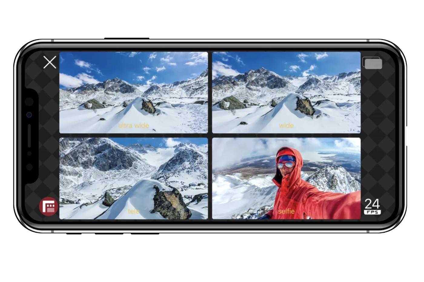 Vous pouvez maintenant utiliser le « multi-cam » d'iOS 13 sur cette application gratuite