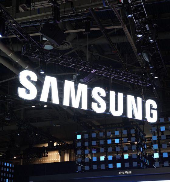 Le logo de Samsung au CES de Las Vegas