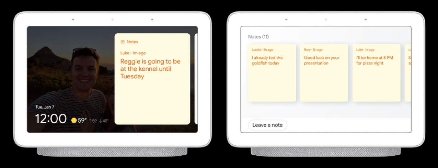 Les notes de Google Assistant