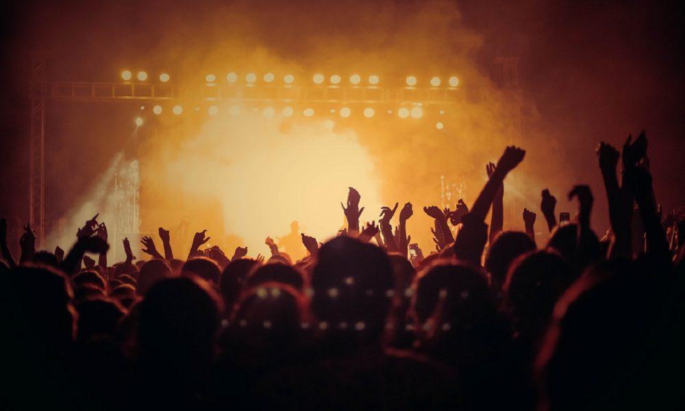 Musique, concert, spectacle, public, foule