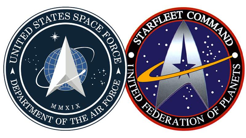 Space Force Star Trek Logo