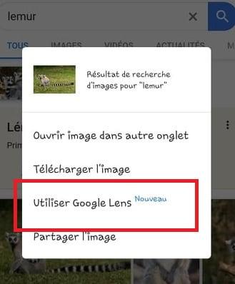 Utiliser Google Lens