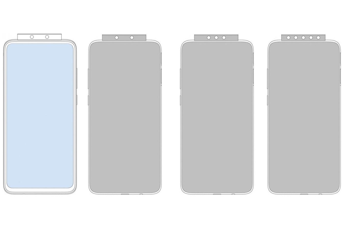 Brevet Xiaomi Smartphone pop-up à sept capteurs photo