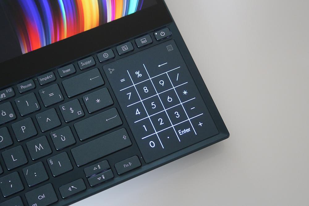 Le NumPad du Asus ZenBook Pro Duo