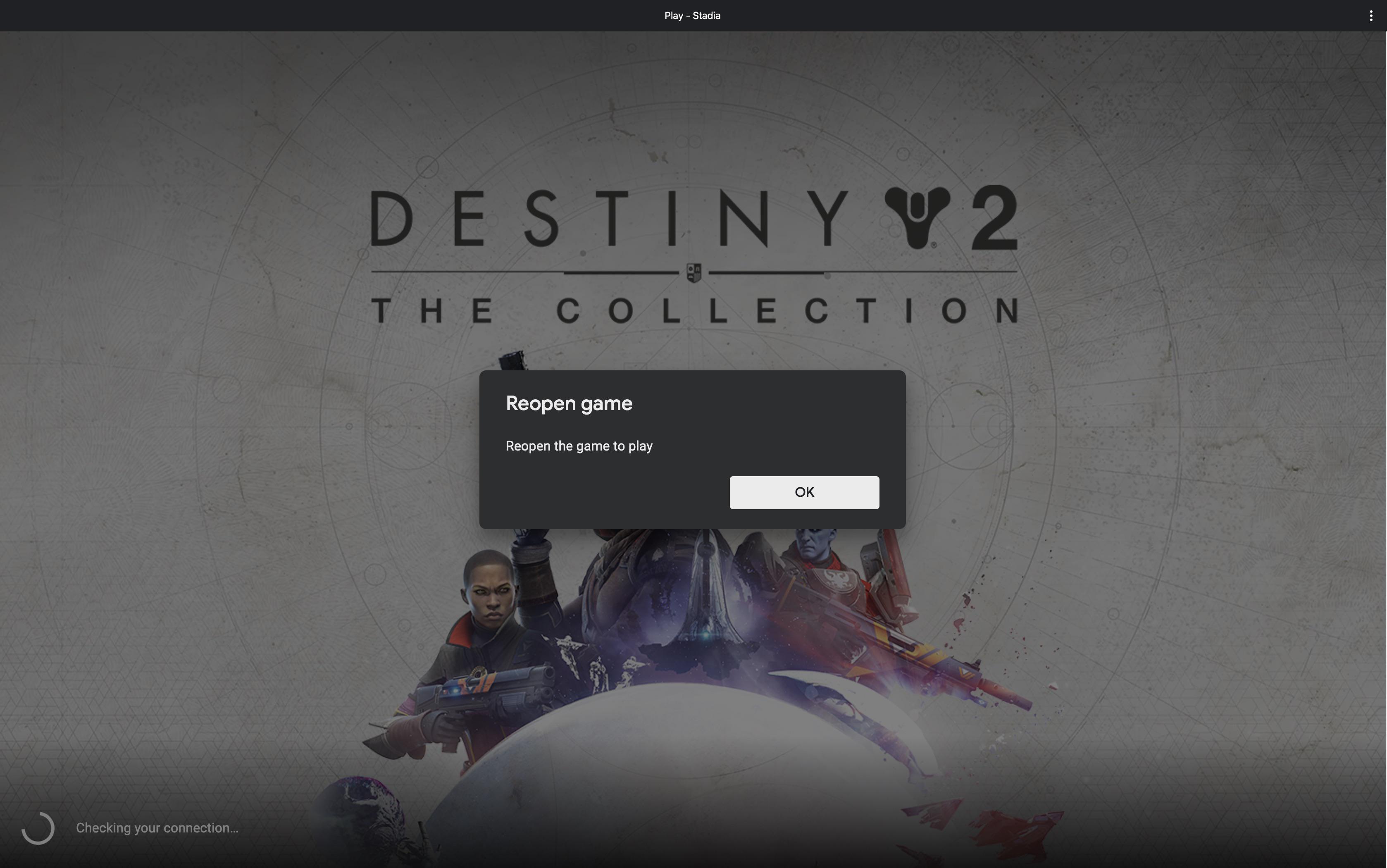 Stadia Destiny 2 Error