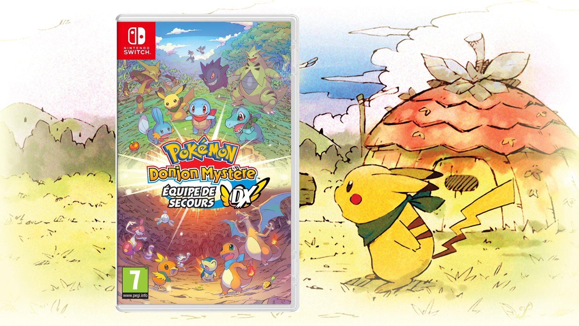 Précommande Pokémon Donjon Mystère Equipe de Secours DX Switch