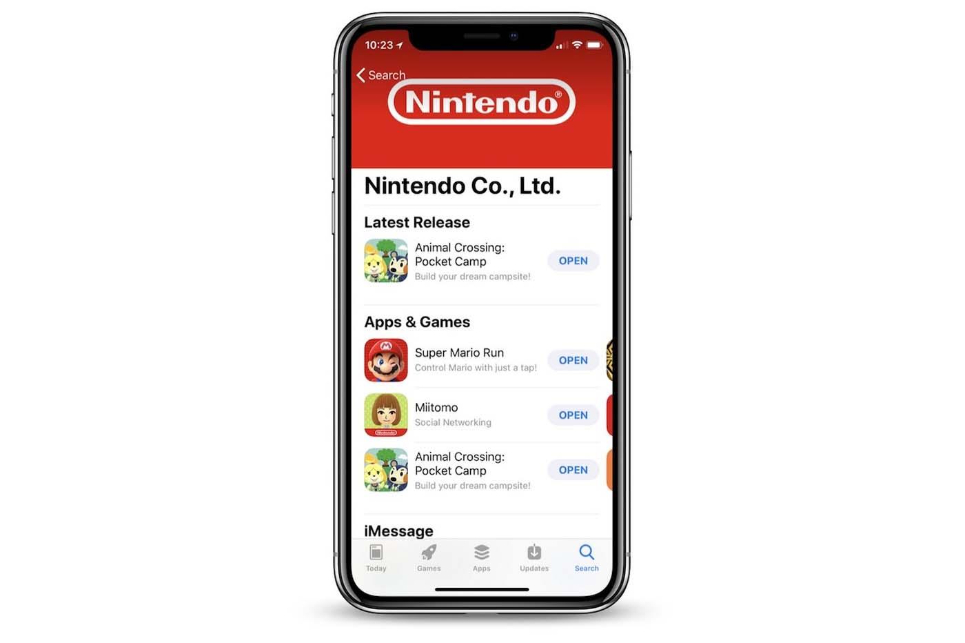 Un milliard de revenu jeux Mobile Nintendo