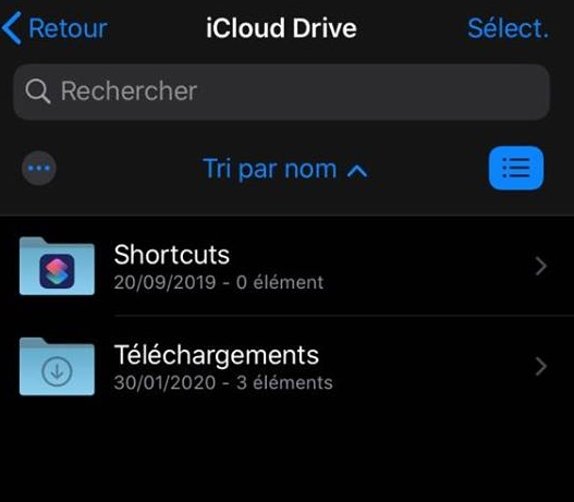 Capture d'écran sur iOS 13