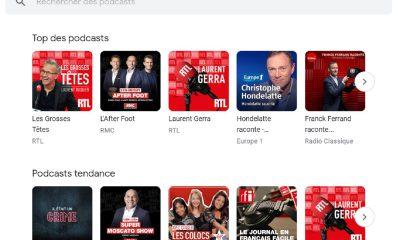 Google Podcasts sur le web