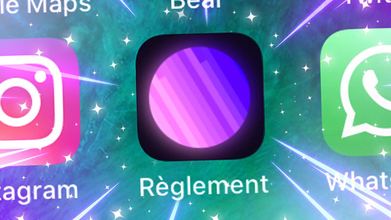 L'app Reglement Radio