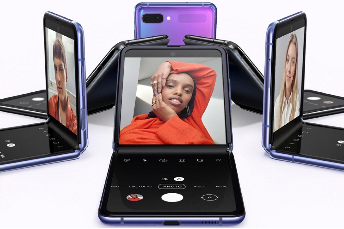 Le Samsung Galaxy Z Flip (images officielles)