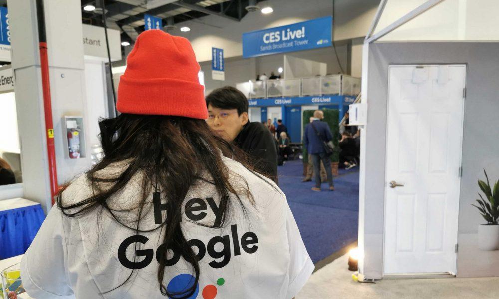 Le logo de Google et Google Assistant au CES 2020 de Las Vegas