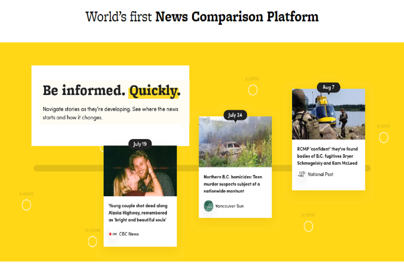 Grâce à cette application, les internautes ont accès à des sources d'information plus diversifiées