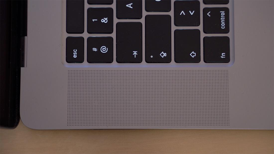 Les nouveaux haut-parleurs du Macbook Pro 16 pouces