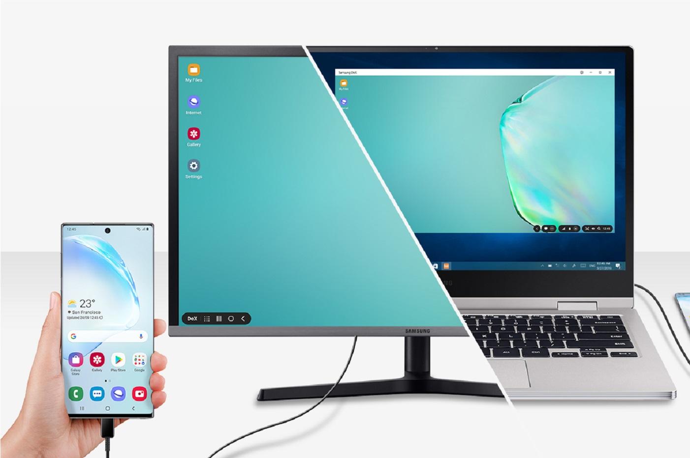 Une image promotionnelle du DeX sur le site de Samsung / © Samsung