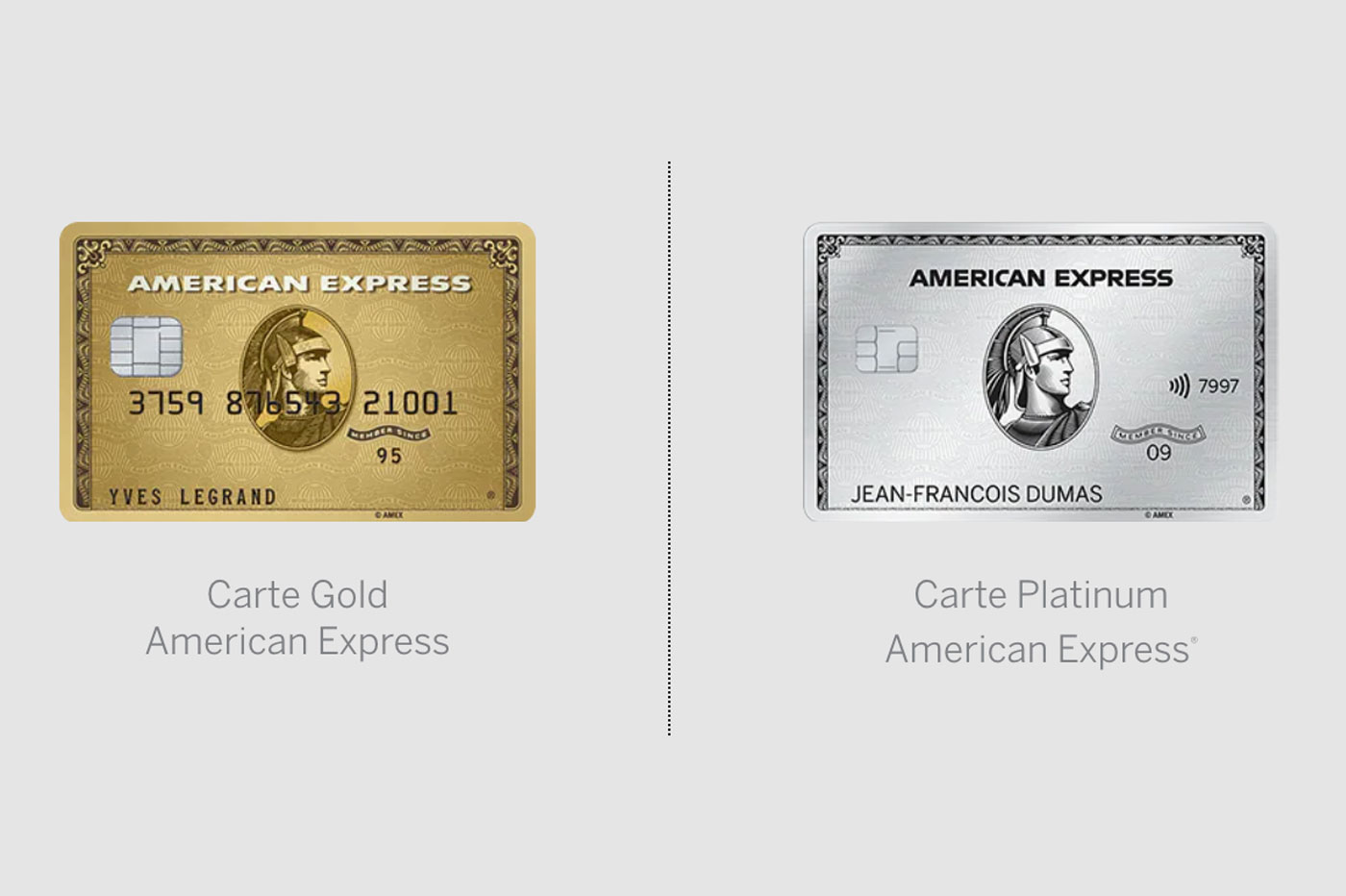 Comparatif Amex Gold Platinum