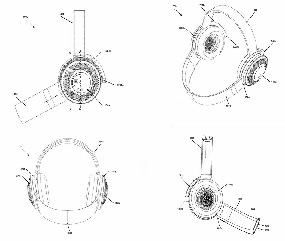 Dyson brevet casque audio purificateur concept