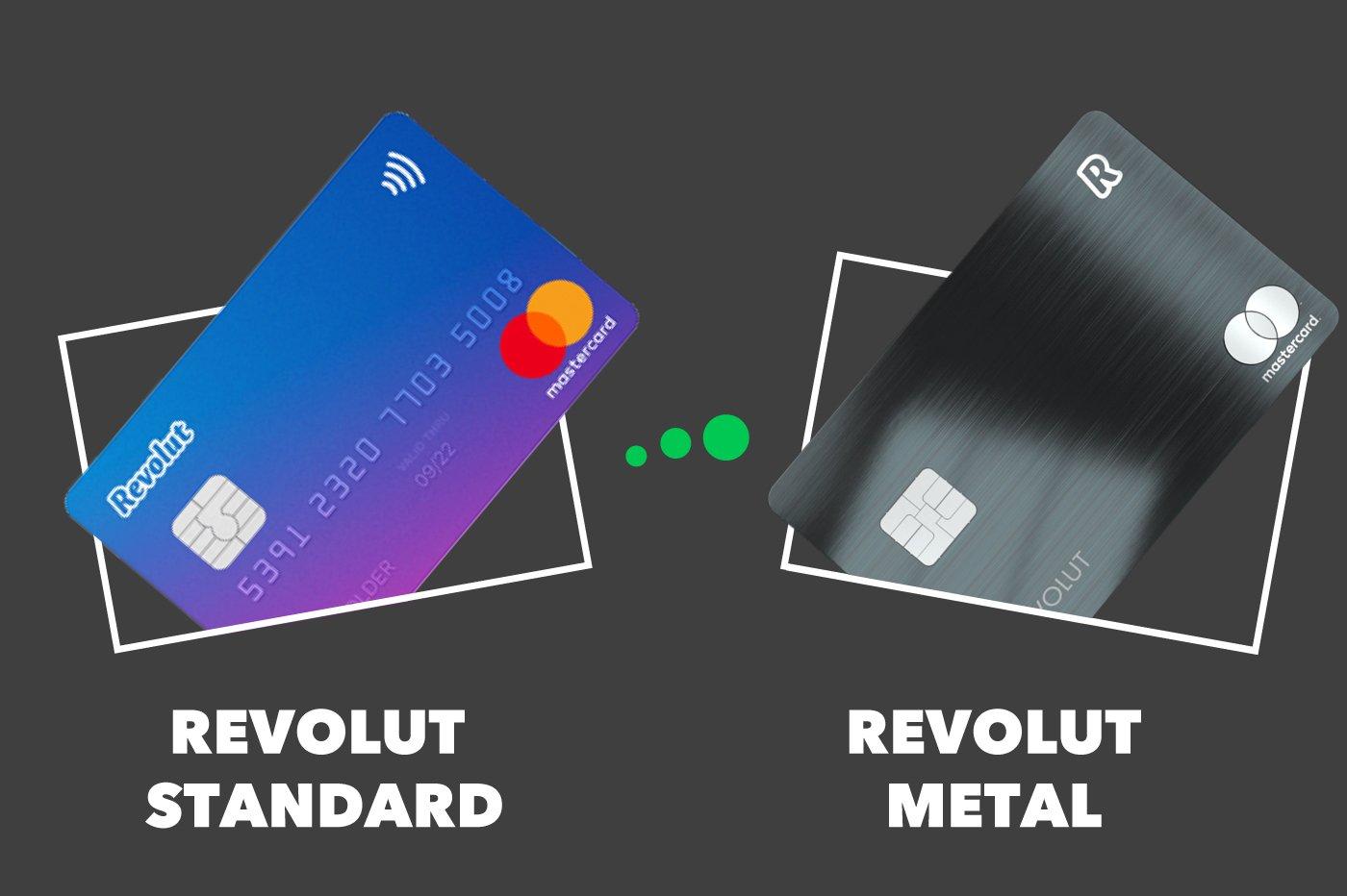 Revolut Standard vs Revolut Metal