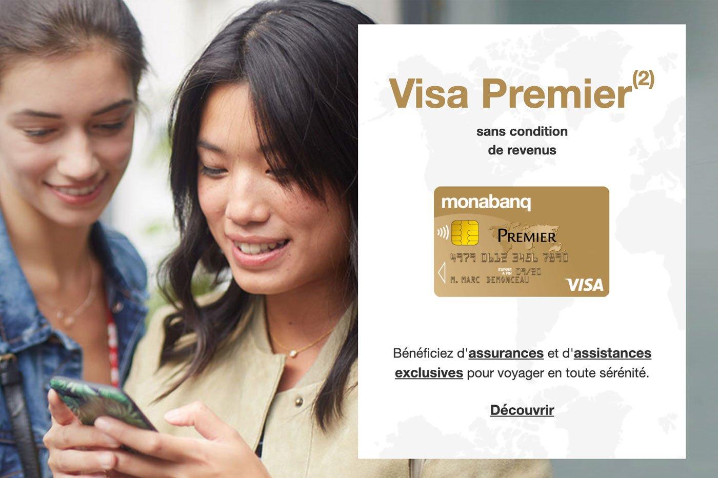 Carte Visa Premier Monabanq Prix Plafond Et Garanties