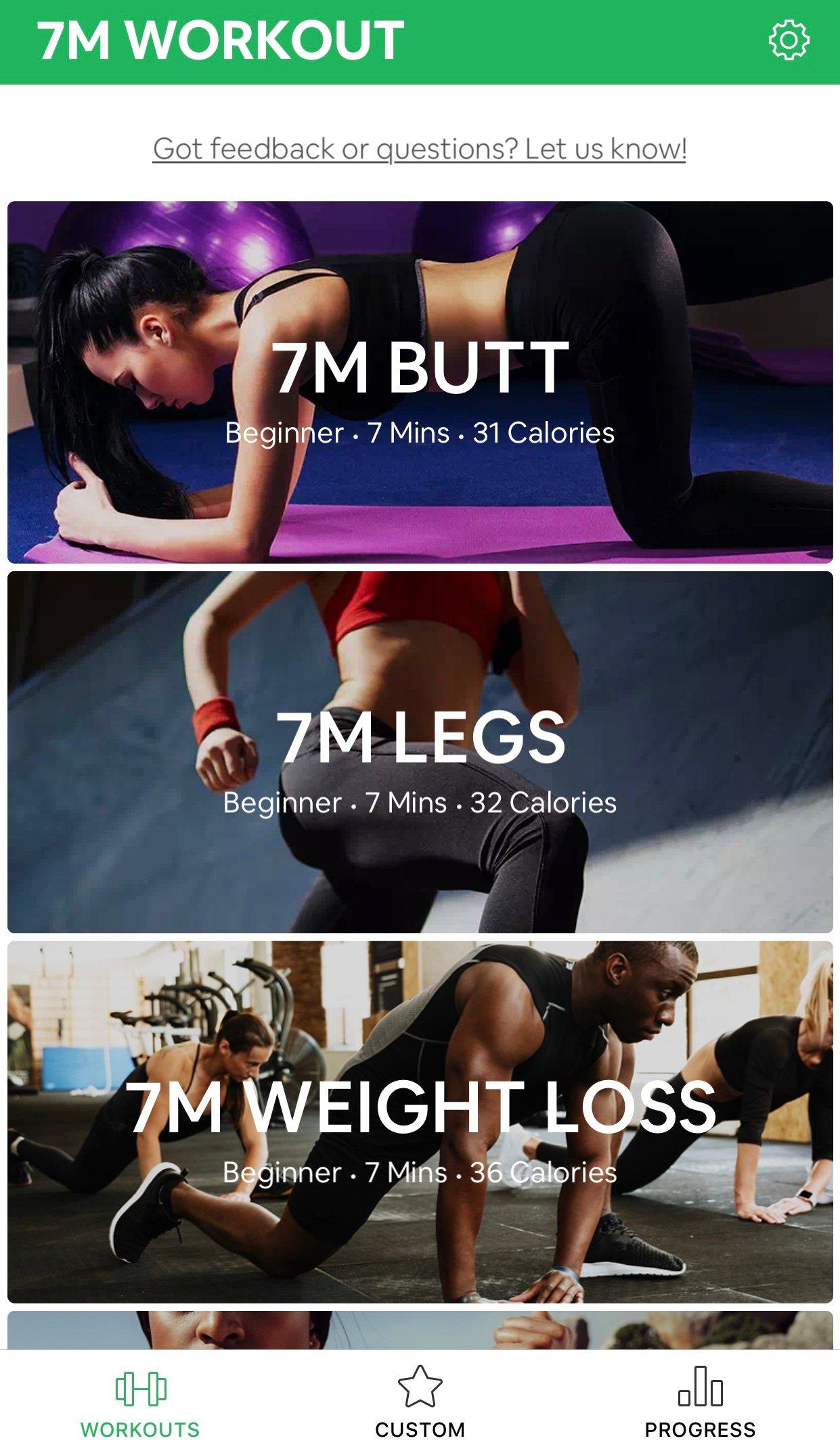 7 minutes workout entraînements
