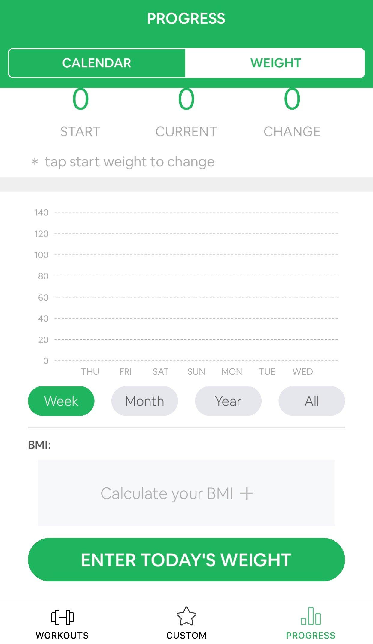 7 minutes workout progrès poids