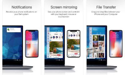 Capture d'écran sur la fiche App Store de Dell Mobile Connect